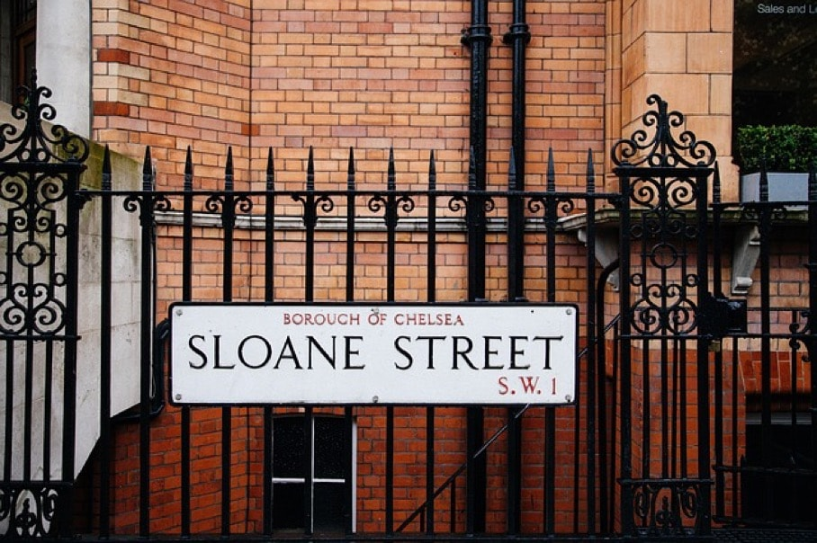 Image of London Sloane Street Sign