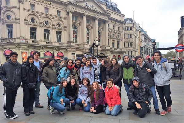 Group of students in London