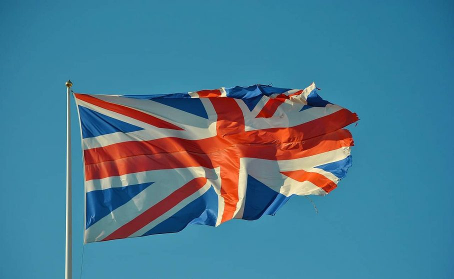 image of a british flag, perfecto para aprender inglés