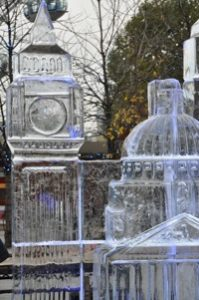 ice sculpture big ben london