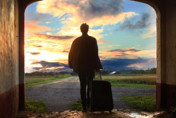 picture of a person traveling