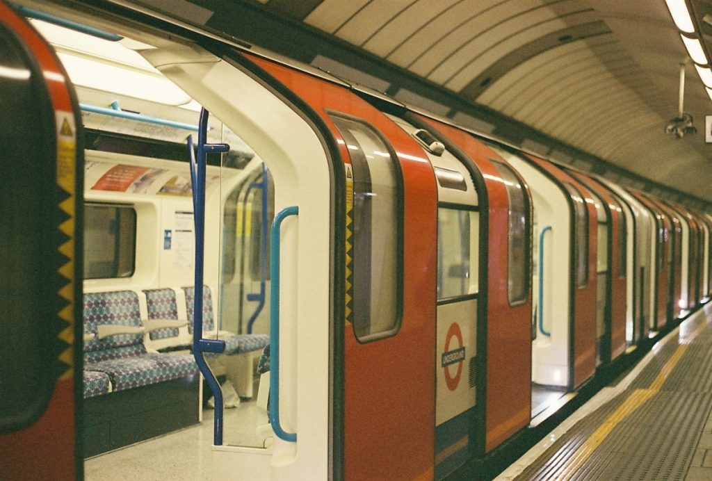 Empty London Tube Train