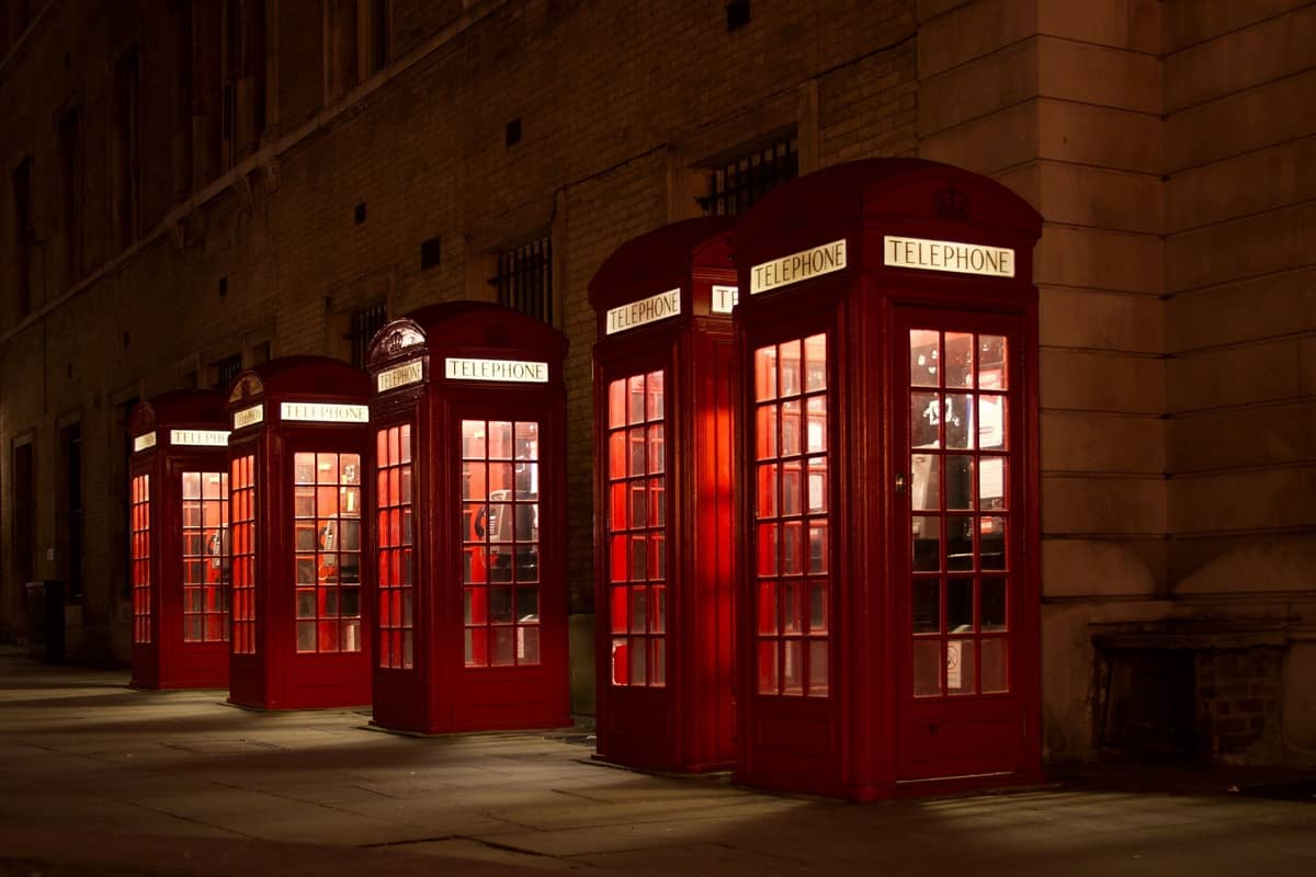 London Red Telephone Booths, Wembley