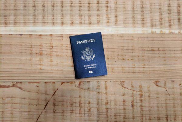 Passport Travel Wooden