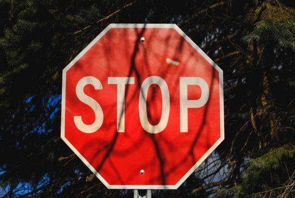 Sign Stop Warning